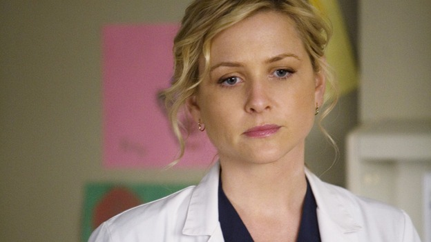 "GREY'S ANATOMY - ""Sweet Surrender"" - Dr. Arizona Robbins, on ""Grey's Anatomy,"" THURSDAY, APRIL 23 (9:00-10:02 p.m., ET) on the ABC Television Network. (ABC/RANDY HOLMES) JESSICA CAPSHAW"