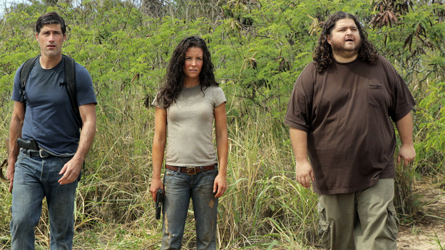 "LOST - ""The Candidate"" - Jack must decide whether or not to trust Locke after he is asked to follow through on a difficult task, on ""Lost,"" TUESDAY, MAY 4 (9:00-10:02 p.m., ET) on the ABC Television Network. (ABC/MARIO PEREZ) MATTHEW FOX, EVANGELINE LILLY, JORGE GARCIA"