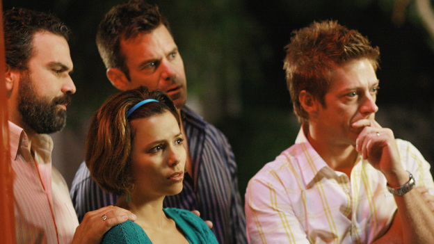 DESPERATE HOUSEWIVES - &quot;Back in Business&quot; - Gaby, Carlos and others look on as Mrs. McKluskey is taken away on a stretcher.