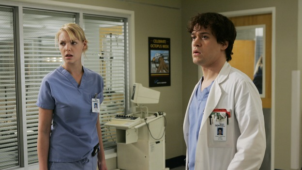 "GREY'S ANATOMY - ""It's the End of the World (As We Know It)"" (ABC/PETER ""HOPPER"" STONE)KATHERINE HEIGL, T.R. KNIGHT"