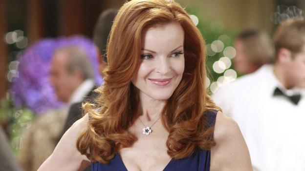 """<p>DESPERATE HOUSEWIVES - """"We're So Happy You're Happy"""" - Bree Hodge striking a pose at dinner.</p> <p> </p>"""