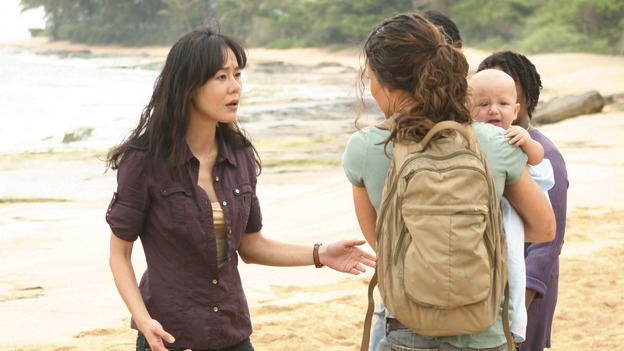 "LOST - ""There's No Place Like Home,"" Part 1 - The face-off between the survivors and the freighter people begins, on ""Lost,"" THURSDAY, MAY 15 (10:02-11:00 p.m., ET) on the ABC Television Network.  (ABC/MARIO PEREZ)YUNJIN KIM, EVANGELINE LILY"