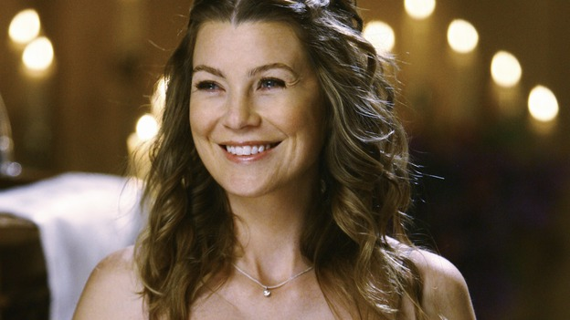 "GREY'S ANATOMY - ""What a Difference a Day Makes"" - Meredith, much more comfortable as a Bride's Maid, looks on as Izzie and Alex get married, on ""Grey's Anatomy,"" THURSDAY, MAY 7 (9:00-10:02 p.m., ET) on the ABC Television Network. ELLEN POMPEO"