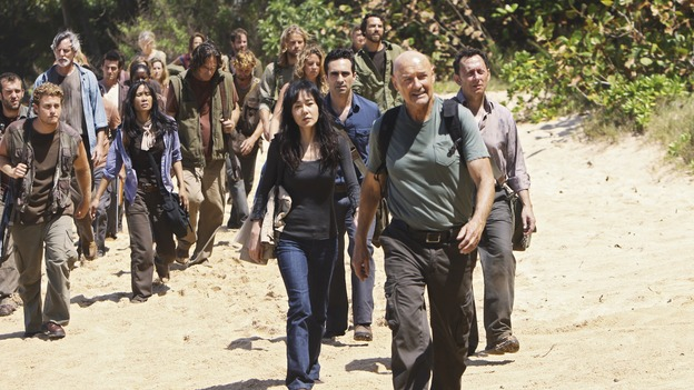 "LOST - ""Follow the Leader"" - Jack and Kate find themselves at odds over the direction to take to save their fellow island survivors, Locke further solidifies his stance as leader of ""The Others,"" and Sawyer and Juliet come under scrutiny from the Dharma Initiative, on ""Lost,"" WEDNESDAY, MAY 6 (9:00-10:02 p.m., ET) on the ABC Television Network.  (ABC/MARIO PEREZ)YUNJIN KIM, NESTOR CARBONELL, TERRY O'QUINN, MICHAEL EMERSON"