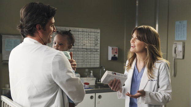 "Season 7: - Meredith learns she has a ""hostile uterus."" This is what caused her miscarriage during the shooting. - Derek starts a clinical trial to find a cure for Alzheimer's. Meredith joins him in the search for a cure because her mother had the disease and she carries the gene for it.- Meredith is having trouble getting pregnant again. To increase her chances of conception, she starts to take fertility drugs. She is forced to stop when the drugs begin take her vision away. Meredith getting pregnant was not meant to be, but every cloud has a silver lining. Enter baby Zola. A little girl who is getting treated at Seattle Grace and stops crying the instant Meredith picks her up. Derek takes this as a sign that they should adopt her.- Adele, Richard's wife, has Alzheimer's. She gets into Derek and Meredith's clinical trial when it becomes apparent that this disease is starting to take over. The trial involves giving a group of patients either a placebo or the experimental drug, Adele is a patient slated to get the placebo. Meredith wanted to help Richard so she risks her career by switching Adele's placebo with the experimental drug."