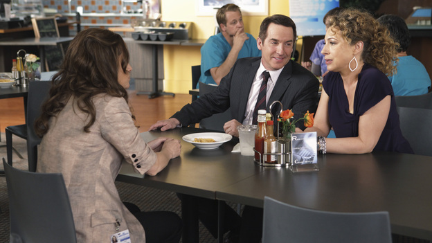 "PRIVATE PRACTICE - ""The Hardest Part"" - When Pete's brother, Adam (Kyle Secor), brings their sick mother (Louise Fletcher) for a consult, Pete discovers her illness may be his brother's fault. Meanwhile, in the wake of her book's success, Violets walks in on Sheldon just as he's about to take her archenemy on a date, and Cooper treats a young musical prodigy whose brain tumor could prevent him from ever playing the piano again, on ""Private Practice,"" THURSDAY, MARCH 31 (10:01-11:00 p.m., ET) on the ABC Television Network. (ABC/ADAM TAYLOR)AMY BRENNEMAN, BRIAN BENBEN, ALEX KINGSTON"