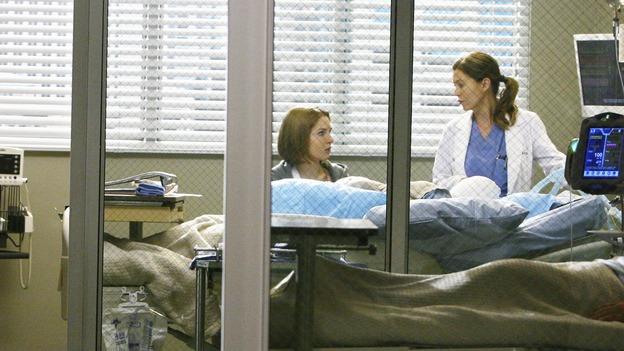 GREY'S ANATOMY - &quot;Now or Never&quot; - Dr.&nbsp;Meredith Grey speaks with her patient, Amanda, about &quot;John Doe,&quot; on &quot;Grey's Anatomy,&quot; THURSDAY, MAY 14 (9:00-11:00 p.m., ET) on the ABC Television Network. SHANNON LUCIO, ELLEN POMPEO