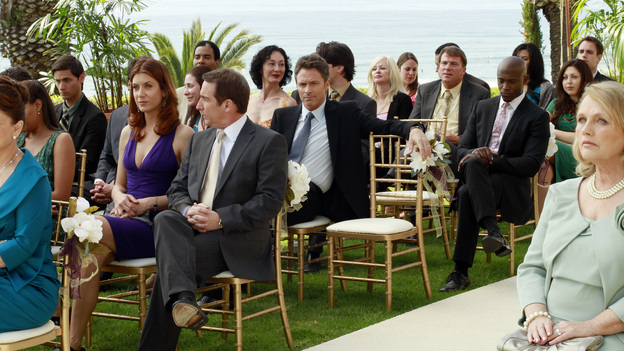 "PRIVATE PRACTICE - ""Something Old, Something New"" - The day has arrived for Cooper and Charlotte to marry, but not everyone is in a celebratory mood, leading the couple to second-guess their wedding plans. Meanwhile, the doctors of Oceanside Wellness are torn between the future of their practice and protecting one of their own, as an investigator is sent to question them about Violet's breach of confidentiality case, on ""Private Practice,"" THURSDAY, MAY 5 (10:01-11:00 p.m., ET) on the ABC Television Network. (ABC/RON TOM)KATE WALSH, BRIAN BENBEN, TIM DALY, TAYE DIGGS, TESS HARPER"