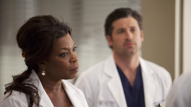 "GREY'S ANATOMY - ""The Girl with No Name"" - The doctors work on a Jane Doe, who turns out to be the subject of a case that gained national interest; Cristina proves to be the highest in demand as the residents begin their interviews for post-residency positions at prospective hospitals; and Richard is faced with an unsettling realization when he visits Adele at Rose Ridge, on ""Grey's Anatomy,"" THURSDAY, APRIL 19 (9:00-10:01 p.m., ET) on the ABC Television Network. (ABC/RANDY HOLMES)LORRAINE TOUSSAINT, PATRICK DEMPSEY"