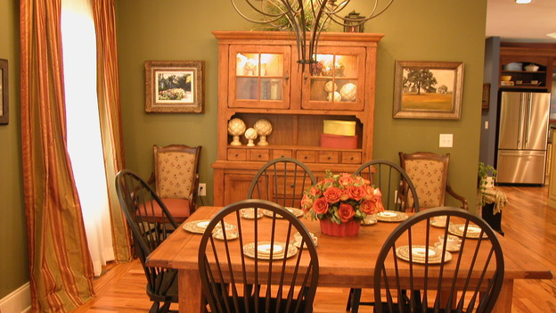 "EXTREME MAKEOVER HOME EDITION - ""Hawkins Family,"" - Dining Room, on ""Extreme Makeover Home Edition,"" Sunday, October 8th on the ABC Television Network."