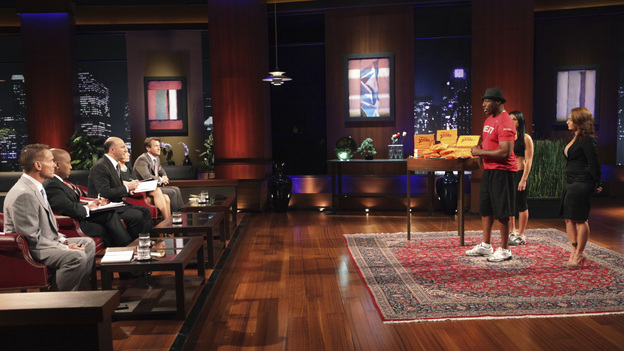 "SHARK TANK - ""Episode 206"" -- For the first time, there will be children seeking a business investment from the Sharks for an idea they came up with while on a family road trip. Also in this episode, a stay-at-home mom who taught herself carpentry and started a furniture business has the Sharks fighting for a piece of it; an entrepreneur brings an innovative secret formula to the Tank; and a personal trainer believes he has the next hot trend in fitness equipment.  In addition, there'll be a follow-up with Grill Charms' owner, Leslie Haywood, to see what making a deal with Robert Herjavec has done for her barbeque accessory, on ""Shark Tank,"" FRIDAY, APRIL 1 (8:00-9:00 p.m., ET) on the ABC Television Network. (ABC/ADAM TAYLOR)KEVIN HARRINGTON, DAYMOND JOHN, KEVIN O'LEARY, BARBARA CORCORAN, ROBERT HERJAVEC, STACY ERWIN (FITNESS STRIDE)"