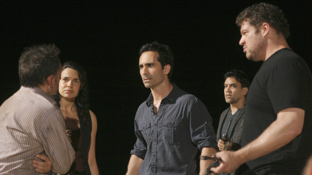 "LOST - ""LA X"" - ""Lost"" returns for its final season of action-packed mystery and adventure -- that will continue to bring out the very best and the very worst in the people who are lost -- on the season premiere of ""Lost,"" TUESDAY, FEBRUARY 2 (9:00-11:00 p.m., ET) on the ABC Television Network. On the season premiere episode, ""LA X"" Parts 1 & 2, the aftermath from Juliet's detonation of the hydrogen bomb is revealed. (ABC/MARIO PEREZ)MICHAEL EMERSON, ZULEIKHA ROBINSON, NESTOR CARBONELL, BRAD WILLIAM HENKE"
