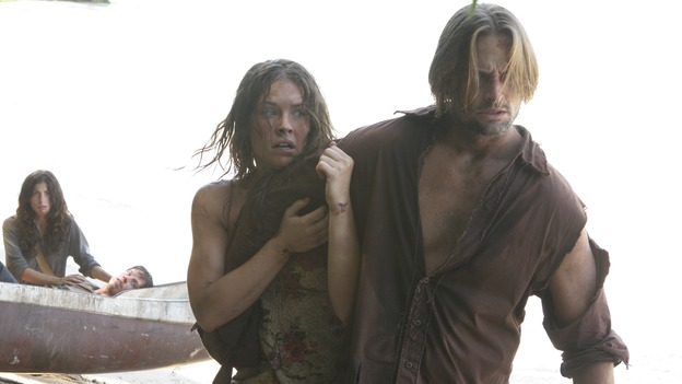 "LOST - Awarded the 2005 Emmy and 2006 Golden Globe for best drama series, and a 2007 Golden Globe nomination for best drama series and best actress for Evangeline Lilly, ""Lost"" returns for the second act of its third season of action-packed mystery and adventure -- that will continue to bring out the very best and the very worst in the people who are lost -- WEDNESDAY, FEBRUARY 7 (10:00-11:00 p.m., ET), on the ABC Television Network. In the return episode, ""Not in Portland,"" Jack is in command as the fate of Ben's life literally rests in his hands. Meanwhile, Kate and Sawyer find an ally in one of ""The Others,"" and Juliet makes a shocking decision that could endanger her standing with her people. (ABC/MARIO PEREZ)TANIA RAYMONDE, EVANGELINE LILLY, JOSH HOLLOWAY"