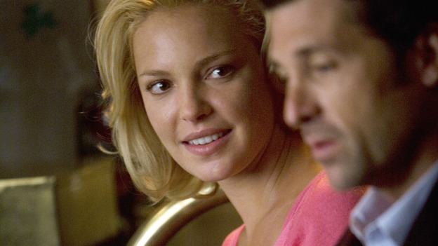 "GREY'S ANATOMY - ""Brave New World"" - Izzie shoots a glance toward Derek, on ""Grey's Anatomy,"" THURSDAY, OCTOBER 16 (9:00-10:01 p.m., ET) on the ABC Television Network. (ABC/RANDY HOLMES) KATHERINE HEIGL, PATRICK DEMPSEY"