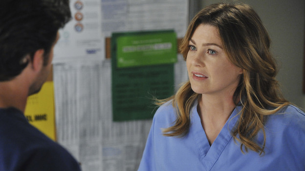GREY'S ANATOMY - &quot;Shock to the System&quot; -- After weeks of concealing the fact she was pregnant and miscarried, Meredith at last tells Derek and is finally cleared to return to her surgical duties in the wake of the hospital shooting spree; Cristina experiences post-traumatic stress disorder in the midst of an operation; and Bailey refuses to let Alex operate until he agrees to have the bullet in his chest removed, on &quot;Grey's Anatomy,&quot; THURSDAY, SEPTEMBER 30 (9:00-10:01 p.m., ET) on the ABC Television Network. (ABC/ERIC MCCANDLESS)PATRICK DEMPSEY, ELLEN POMPEO