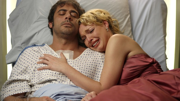 Denny DuquetteThe one thing they don't teach you in med school is to not fall in love with patients on the heart transplant list. That's exactly what happened to Izzie Stevens when she met Denny Duquette, who eventually died of a blood clot. That didn't stop him from returning every now and then in visions experienced by both Izzie and Meredith.