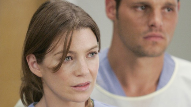 "GREY'S ANATOMY - ""INTO YOU LIKE A TRAIN"" (ABC/CRAIG SJODIN)ELLEN POMPEO, JUSTIN CHAMBERS"