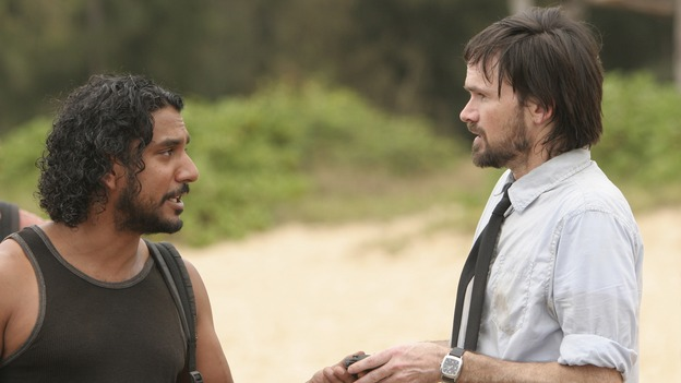 "LOST - ""There's No Place Like Home,"" Part 1 - The face-off between the survivors and the freighter people begins, on ""Lost,"" THURSDAY, MAY 15 (10:02-11:00 p.m., ET) on the ABC Television Network.  (ABC/MARIO PEREZ)NAVEEN ANDREWS, JEREMY DAVIES"