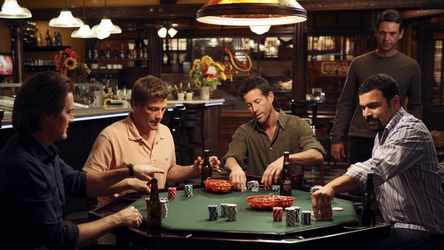 "DESPERATE HOUSEWIVES - ""My Husband, the Pig"" - The guys have a poker night, on ""Desperate Housewives,"" SUNDAY, MARCH 4 (9:00-10:01 p.m., ET) on the ABC Television Network.  (ABC/DANNY FELD) KYLE MACLACHLAN, DOUG SAVANT, JAMES DENTON, DOUGRAY SCOTT, RICARDO ANTONIO CHAVIRA"