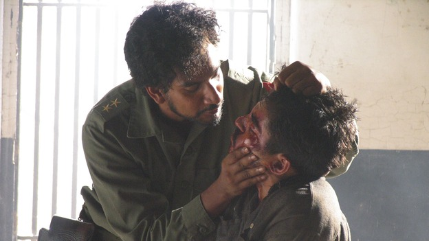 "LOST - ""Solitary"" - Sayid's life is placed in grave danger after he stumbles upon the source of the mysterious French transmission. Meanwhile, Hurley has a ridiculous plan to make life on the island a little more civilized -- and it just might work -- on ""Lost,"" WEDNESDAY, NOVEMBER 17 (8:00-9:00 p.m., ET), on the ABC Television Network. (ABC/MARIO PEREZ)  NAVEEN ANDREWS, XAVIER ALANIZ"