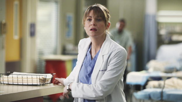GREY'S ANATOMY - &quot;Golden Hour&quot; - Meredith, looking to prove she is Chief Resident material, learns that anything and everything can happen in an hour's time when she steps up to run the ER for a night; meanwhile, Bailey sneaks off with Eli and gets into a little mischief, and everyone is surprised when the Chief's wife, Adele, shows up as one of the ER patients, on &quot;Grey's Anatomy,&quot; THURSDAY, FEBRUARY 17 (9:00-10:01 p.m., ET) on the ABC Television Network. (ABC/DANNY FELD)ELLEN POMPEO
