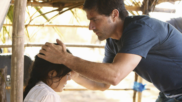 "LOST - ""The Package"" - Sun and Jin desperately continue their search for one another, and Locke confronts his enemy, on ""Lost,"" TUESDAY, MARCH 30 (9:00-10:02 p.m., ET) on the ABC Television Network. (ABC/MARIO PEREZ)YUNJIN KIM, MATTHEW FOX"