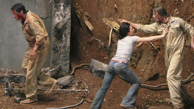 LOST - &quot;LA X&quot; - &quot;Lost&quot; returns for its final season of action-packed mystery and adventure -- that will continue to bring out the very best and the very worst in the people who are lost -- on the season premiere of &quot;Lost,&quot; TUESDAY, FEBRUARY 2 (9:00-11:00 p.m., ET) on the ABC Television Network. On the season premiere episode, &quot;LA X&quot; Parts 1 &amp; 2, the aftermath from Juliet's detonation of the hydrogen bomb is revealed. (ABC/MARIO PEREZ)MATTHEW FOX, EVANGELINE LILLY, JOSH HOLLOWAY