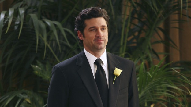 "GREY'S ANATOMY - ""Didn't We Almost Have It All"" - Cristina and Burke's wedding day arrives - along with the interns' first exam results - and a successor to the Chief is named, as Callie and George make a big decision about their relationship, on the Season Finale of ""Grey's Anatomy,"" THURSDAY, MAY 17 (9:00-10:07 p.m., ET) on the ABC Television Network. (ABC/KAREN NEAL)PATRICK DEMPSEY"