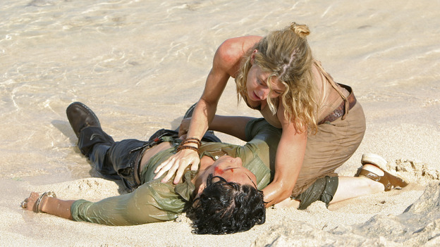 "LOST - ""The Other 48 Days"" - The harrowing first 48 days in the lives of the tail section survivors are revealed, on ""Lost,"" WEDNESDAY, NOVEMBER 16 (9:00-10:00 p.m., ET), on the ABC Television Network. (ABC/MARIO PEREZ)DANIEL DAE KIM, CYNTHIA WATROS"