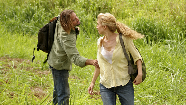 "LOST - ""Through the Looking Glass"" - Jack and the castaways begin their efforts to make contact with Naomi's rescue ship, on the season finale of ""Lost,"" WEDNESDAY, MAY 23 (9:00-11:00 p.m., ET), on the ABC Television Network. (ABC/MARIO PEREZ)JOSH HOLLOWAY, ELIZABETH MITCHELL"