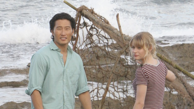 "LOST - ""Par Avion"" - Claire becomes suspicious of Charlie when he exhibits peculiar behavior after she comes up with an idea that could get everybody rescued. Meanwhile, tensions mount between Sayid and Locke as they continue their trek to rescue Jack, on ""Lost,"" WEDNESDAY, MARCH 14 (10:00-11:00 p.m., ET), on the ABC Television Network. (ABC/MARIO PEREZ)DANIEL DAE KIM, EMILIE DE RAVIN"