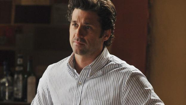 "GREY'S ANATOMY- ""Here Comes the Flood"" - Derek makes himself at home when he moves in with Meredith, on ""Grey's Anatomy,"" THURSDAY, OCTOBER 9 (9:00-10:01 p.m., ET) on the ABC Television Network. (ABC/ERIC McCANDLESS) PATRICK DEMPSEY"