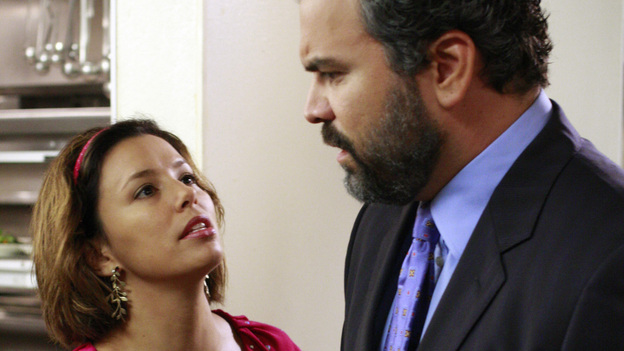 """<p>DESPERATE HOUSEWIVES - """"We're So Happy You're Happy"""" - Gaby begs for Carlos to do well at the dinner.</p> <p> </p>"""