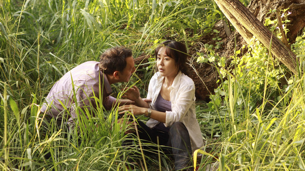 "LOST - ""The Package"" - Sun and Jin desperately continue their search for one another, and Locke confronts his enemy, on ""Lost,"" TUESDAY, MARCH 30 (9:00-10:02 p.m., ET) on the ABC Television Network. (ABC/MARIO PEREZ)MICHAEL EMERSON, YUNJIN KIM"