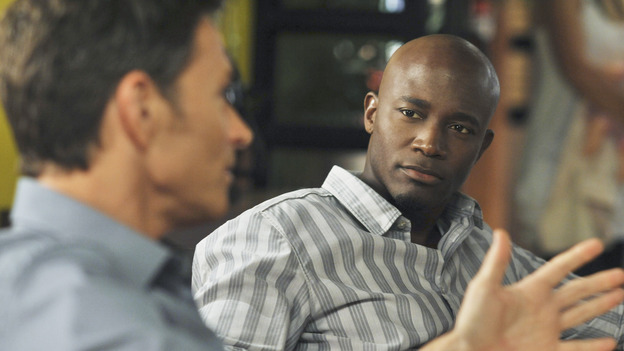 PRIVATE PRACTICE - &quot;Past Tense&quot; - An office election pits Sam and Naomi against each other to lead the practice, and ends with surprising results, while Addison treats a young Afghan girl who wants to hide her past, and Cooper's objectionable personal life catches up with his professional one, on &quot;Private Practice,&quot; WEDNESDAY, OCTOBER 29 (9:00-10:01 p.m., ET) on the ABC Television Network. (ABC/ERIC McCANDLESS)TIM DALY, TAYE DIGGS