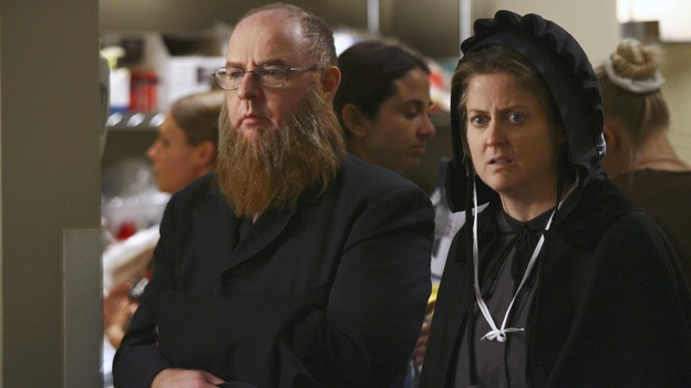 GREY'S ANATOMY - &quot;Great Expectations&quot; - While rumors of the Chief's departure spread among the hospital staff, Bailey proposes the creation of a free clinic, and a Seattle Grace doctor receives a proposal of a different sort, on &quot;Grey's Anatomy,&quot; THURSDAY, JANUARY 25 (9:00-10:01 p.m., ET) on the ABC Television Network. (ABC/SCOTT GARFIELD)MICHAEL P. BYRNE, KATHLEEN MARY CARTHY