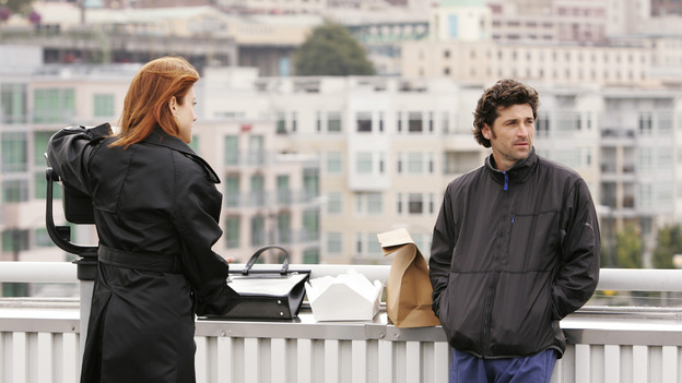 GREY'S ANATOMY - &quot;Something to Talk About&quot; (ABC/CRAIG SJODIN)KATE WALSH, PATRICK DEMPSEY
