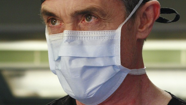 GREY'S ANATOMY - &quot;Scars and Souvenirs&quot; - The race for chief heats up after a new competitor enters the fray, tensions escalate between Izzie and George, and Callie must reveal a big secret. Meanwhile, Derek treats a patient near and dear to him, while Alex continues his work with Jane Doe, on &quot;Grey's Anatomy,&quot; THURSDAY, MARCH 15 (9:00-10:01 p.m., ET) on the ABC Television Network. (ABC/RON TOM)ROGER REES