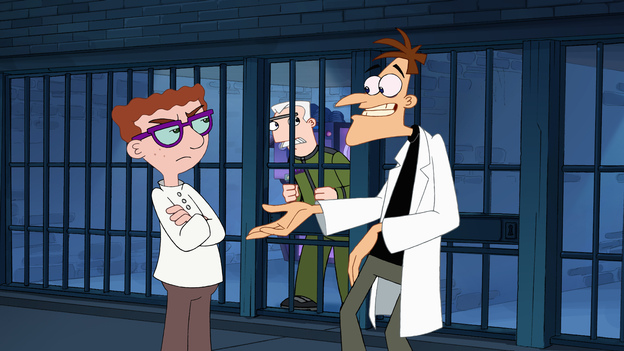 Happy New Year!Dr. Doofenshmirtzfrom Disney XD's Phineas & Ferb is well aware that New Year's Eve is a time to make resolutions. That's why he once invented a Resolution-Changer-Inator. The device was programmed to make people change their resolutions to make him ruler of the Tri-State area. His evil plan failed when nobody ended up keeping their resolutions.