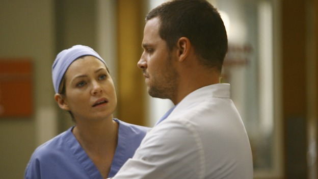 "GREY'S ANATOMY - ""Rise Up"" - Meredith confronts Alex, on ""Grey's Anatomy,"" THURSDAY, NOVEMBER 6 (9:00-10:01 p.m., ET) on the ABC Television Network. (ABC/SCOTT GARFIELD) ELLEN POMPEO, JUSTIN CHAMBERS"