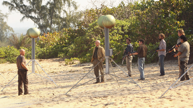 "LOST - ""The Package"" - Sun and Jin desperately continue their search for one another, and Locke confronts his enemy, on ""Lost,"" TUESDAY, MARCH 30 (9:00-10:02 p.m., ET) on the ABC Television Network. (ABC/MARIO PEREZ)TERRY O'QUINN, ALAN DALE, FRED KOEHLER"