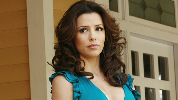 "DESPERATE HOUSEWIVES - ""Remember"" - A series of flashbacks take us back to moving-in day on Wisteria Lane for Bree, Susan, Gaby and Lynette, and to how Mary Alice Young brought them all together. Meanwhile Bree gets some frightening news, Susan moves into a trailer, Lynette discovers Tom's secret and all is not well in the house of Solis, on the two-hour Second-Season finale of ""Desperate Housewives,"" SUNDAY, MAY 21 (9:00-11:00 p.m., ET) on the ABC Television Network. (ABC/RON TOM)EVA LONGORIA"