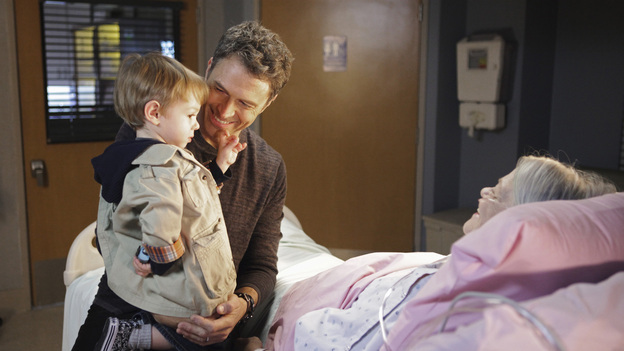 PRIVATE PRACTICE - &quot;The Hardest Part&quot; - When Pete's brother, Adam (Kyle Secor), brings their sick mother (Louise Fletcher) for a consult, Pete discovers her illness may be his brother's fault. Meanwhile, in the wake of her book's success, Violets walks in on Sheldon just as he's about to take her archenemy on a date, and Cooper treats a young musical prodigy whose brain tumor could prevent him from ever playing the piano again, on &quot;Private Practice,&quot; THURSDAY, MARCH 31 (10:01-11:00 p.m., ET) on the ABC Television Network. (ABC/ADAM TAYLOR)TIM DALY, LOUISE FLETCHER