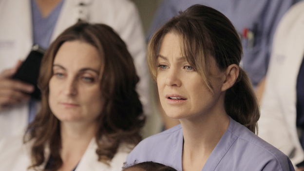 GREY'S ANATOMY - &quot;This Magic Moment&quot; - The doctors split into teams for a risky surgery involving conjoined twins; Bailey recruits Meredith to be a buffer between her and Ben when he puts pressure on moving their relationship to a more serious level; Richard teaches Alex a tough lesson in the OR; meanwhile Teddy questions Cristina about what exactly happened to Henry during his surgery, on Grey's Anatomy, THURSDAY, JANUARY 12 (9:00-10:02 p.m., ET) on the ABC Television Network. (ABC/KELSEY MCNEAL)ELLEN POMPEO