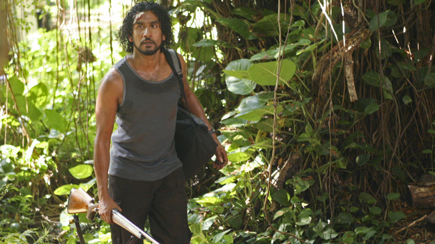 LOST - &quot;Solitary&quot; - Sayid's life is placed in grave danger after he stumbles upon the source of the mysterious French transmission. Meanwhile, Hurley has a ridiculous plan to make life on the island a little more civilized -- and it just might work -- on &quot;Lost,&quot; WEDNESDAY, NOVEMBER 17 (8:00-9:00 p.m., ET), on the ABC Television Network. (ABC/MARIO PEREZ) NAVEEN ANDREWS