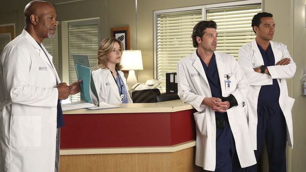 GREY'S ANATOMY - &quot;Remember the Time&quot; - (ABC/DANNY FELD)JAMES PICKENS JR., TINA MAJORINO, PATRICK DEMPSEY, JESSE WILLIAMS