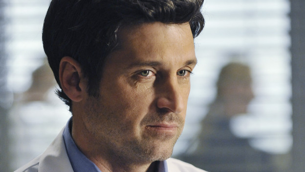 "GREY'S ANATOMY - ""Perfect Little Accident"" - When famous surgeon Dr. Harper Avery is rushed to Seattle Grace-Mercy West, the staff is surprised to discover that one of their own is related to this legend, and his unorthodox request for his surgery causes tensions between Derek and Richard. Meanwhile Callie and Arizona try to help Teddy and Sloan move on from their pasts and find greener pastures, on ""Grey's Anatomy,"" THURSDAY, MARCH 4 (9:00-10:01 p.m., ET) on the ABC Television Network. (ABC/ERIC MCCANDLESS)PATRICK DEMPSEY"
