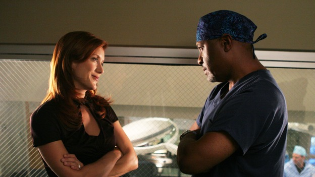 "GREY'S ANATOMY - ""Something to Talk About"" (ABC/RICHARD CARTWRIGHT)KATE WALSH, JAMES PICKENS, JR."