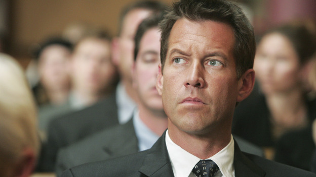 DESPERATE HOUSEWIVES &quot;Next&quot; - Mike Delfino at Rex Van de Kamp's funeral - (ABC/VIVIAN ZINK) JAMES DENTON
