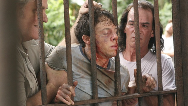 LOST -- &quot;Lost&quot; - awarded the 2005 Emmy and 2006 Golden Globe for best drama series - is back for a third season of action-packed mystery and adventure that will continue to bring out the very best and the very worst in the people who are lost. In the season premiere episode, &quot;A Tale of Two Cities,&quot; Jack, Kate and Sawyer begin to discover what they are up against as prisoners of &quot;The Others.&quot; The season premiere airs WEDNESDAY, OCTOBER 4 (9:00-10:01 p.m., ET), on the ABC Television Network. (ABC/MARIO PEREZ)M.C. GAINEY, BLAKE BASHOFF, EXTRA